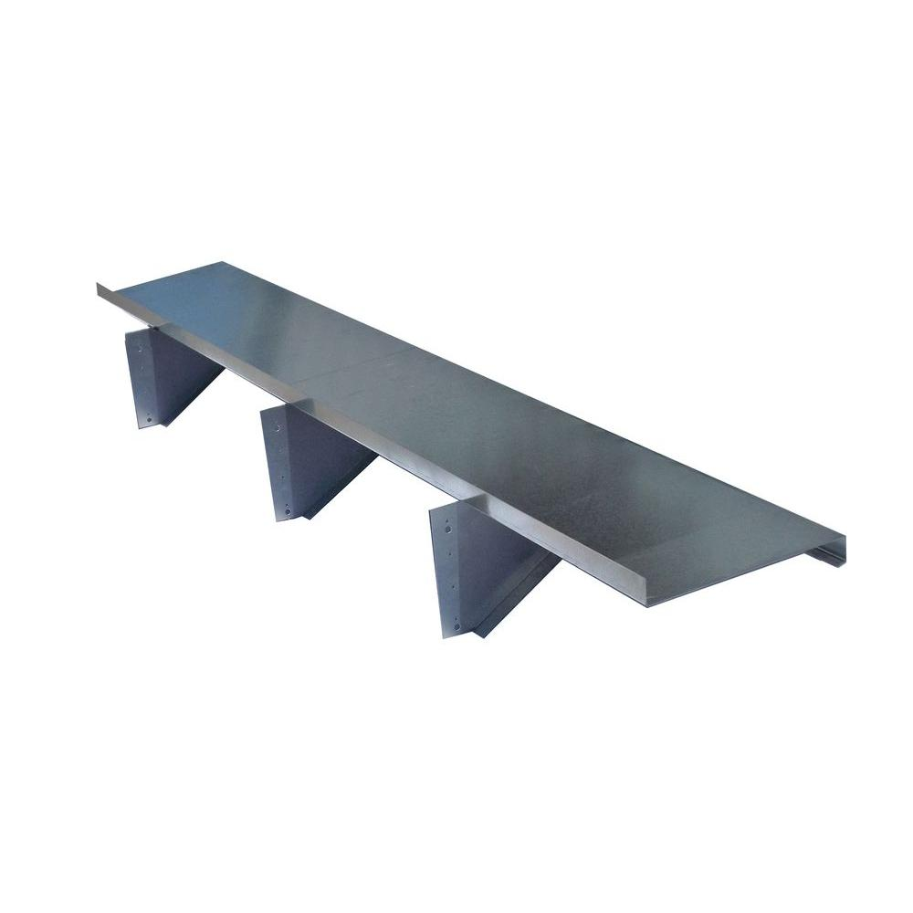 null 12 in. x 48 in. Metal Shelving with Brackets