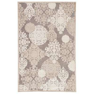 Fables Brown 5 ft. x 7 ft. 6 in. Damask Rectangle Rug