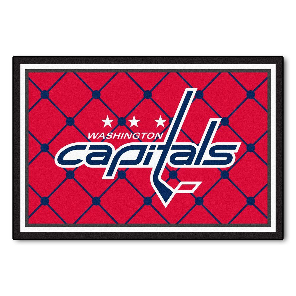 Fanmats Nhl Washington Capitals Red 5 Ft X 8 Ft Indoor