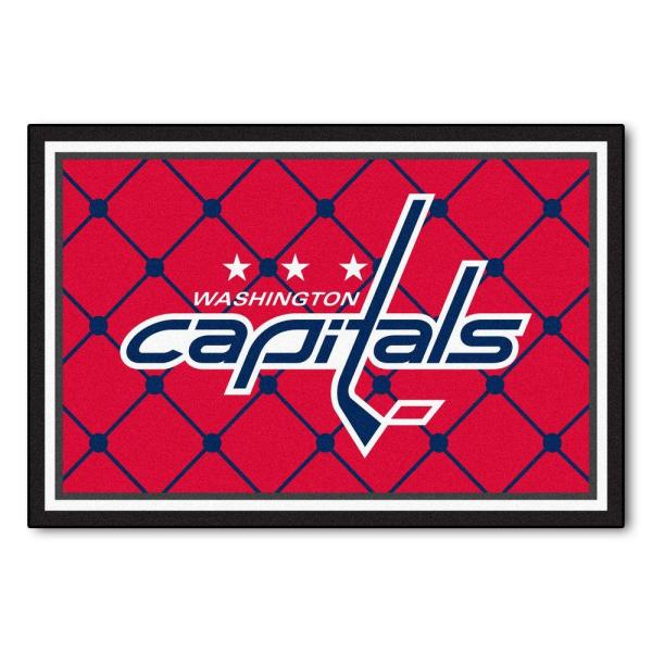 NHL Washington Capitals Red 5 ft. x 8 ft. Indoor Area Rug
