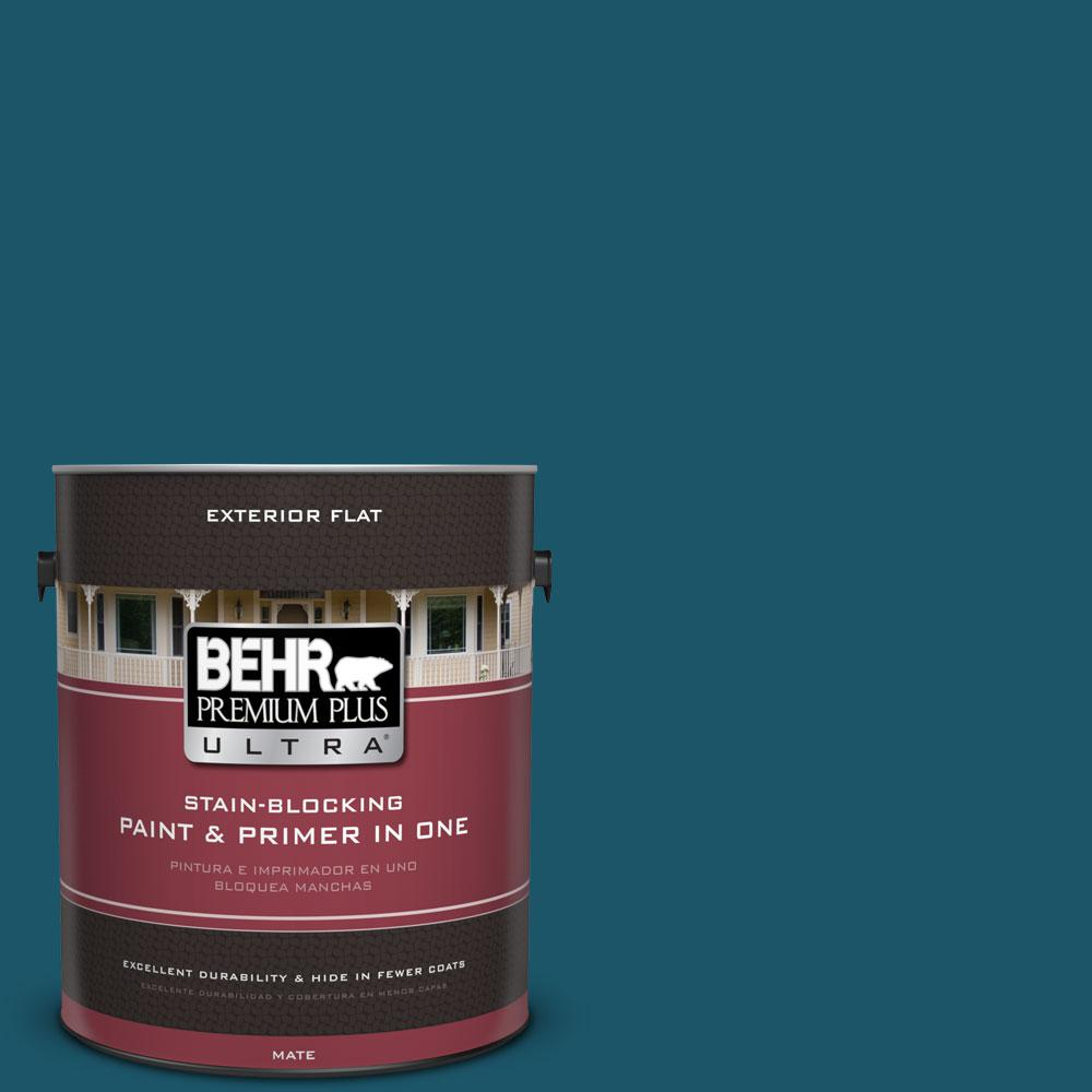 BEHR Premium Plus Ultra 1-gal. #ECC-13-3 Flowing River Flat Exterior Paint