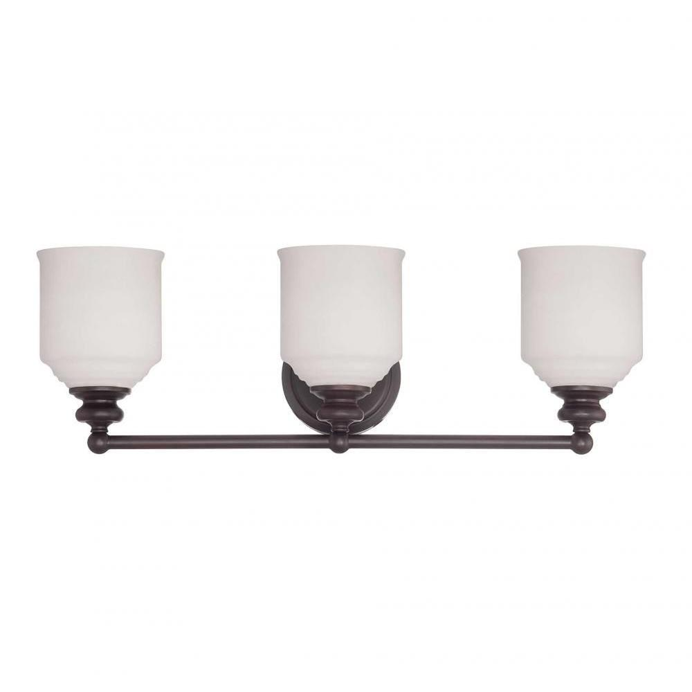 Massa 3-Light English Bronze Bath Vanity Light