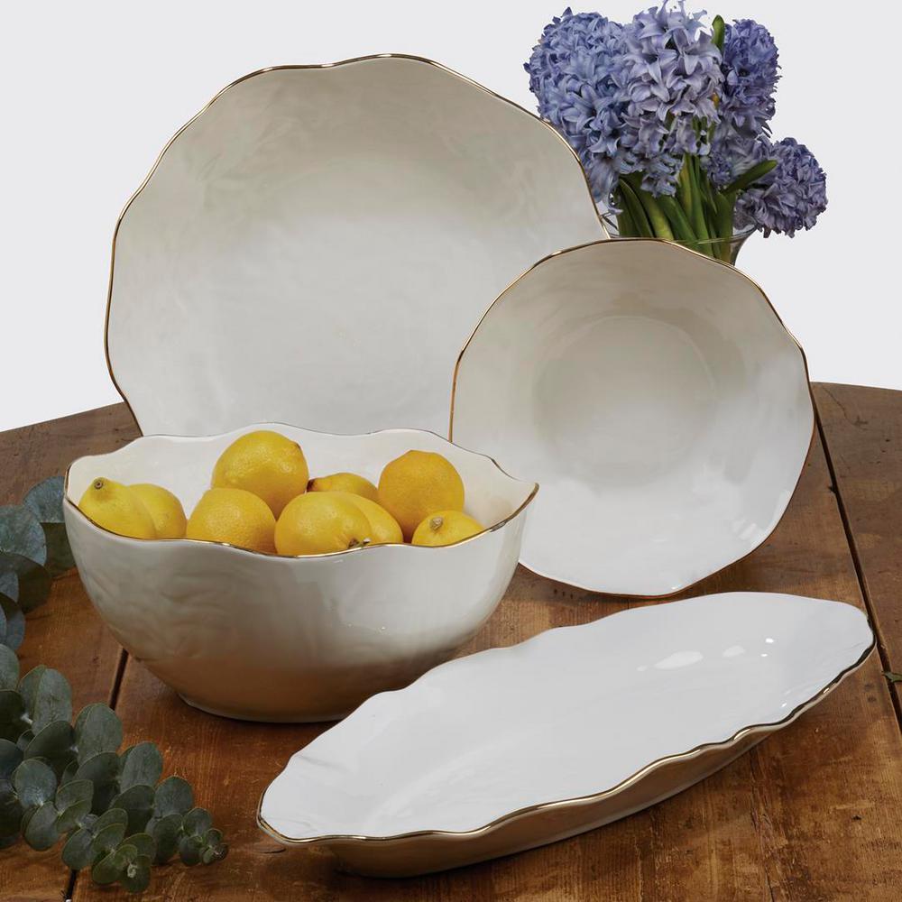 Multi-Colored 48 oz. Elegance Veggie Bowl