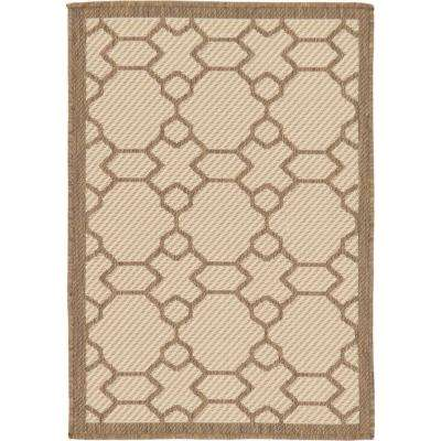 Outdoor Geometric Beige 2' 2 x 3' 0 Area Rug
