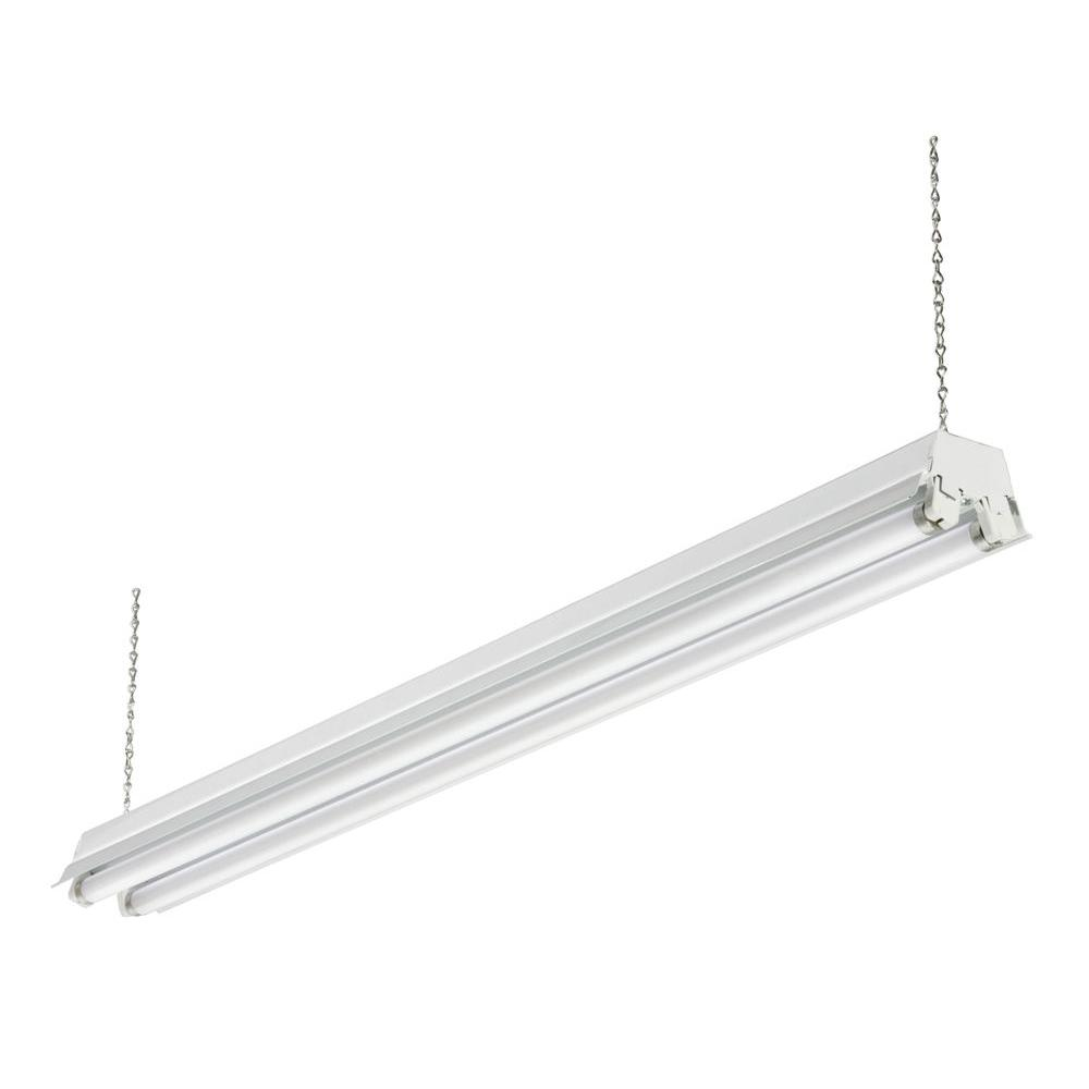 Lithonia Lighting 2 Light White Fluorescent Cold Weather Shop 1233 CW 232 SHOPLIGHT