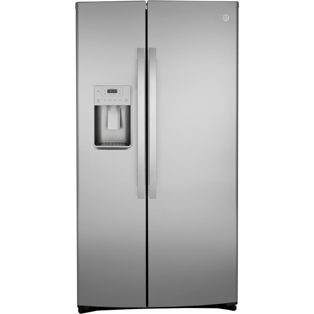 25.1 cu. Ft. Side by Side Refrigerator in Stainless Steel, Fingerprint M Gbs Hcraww Wiring Diagram For Ge Refrigerator on