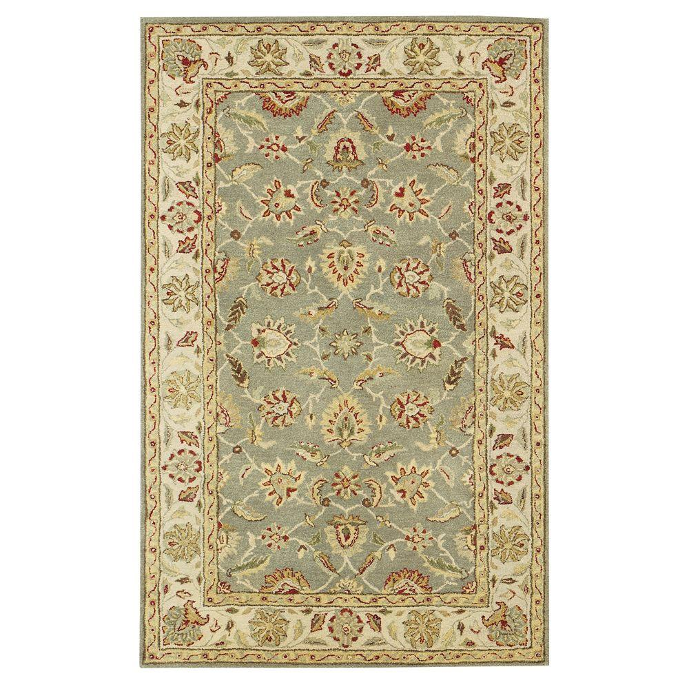 Home decorators collection old london green ivory 5 ft x for Home decorators rugs