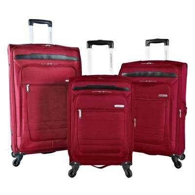 3-Piece Expandable Soft Side Vertical Rolling Luggage Set with Spinner Wheels (Voyager II)
