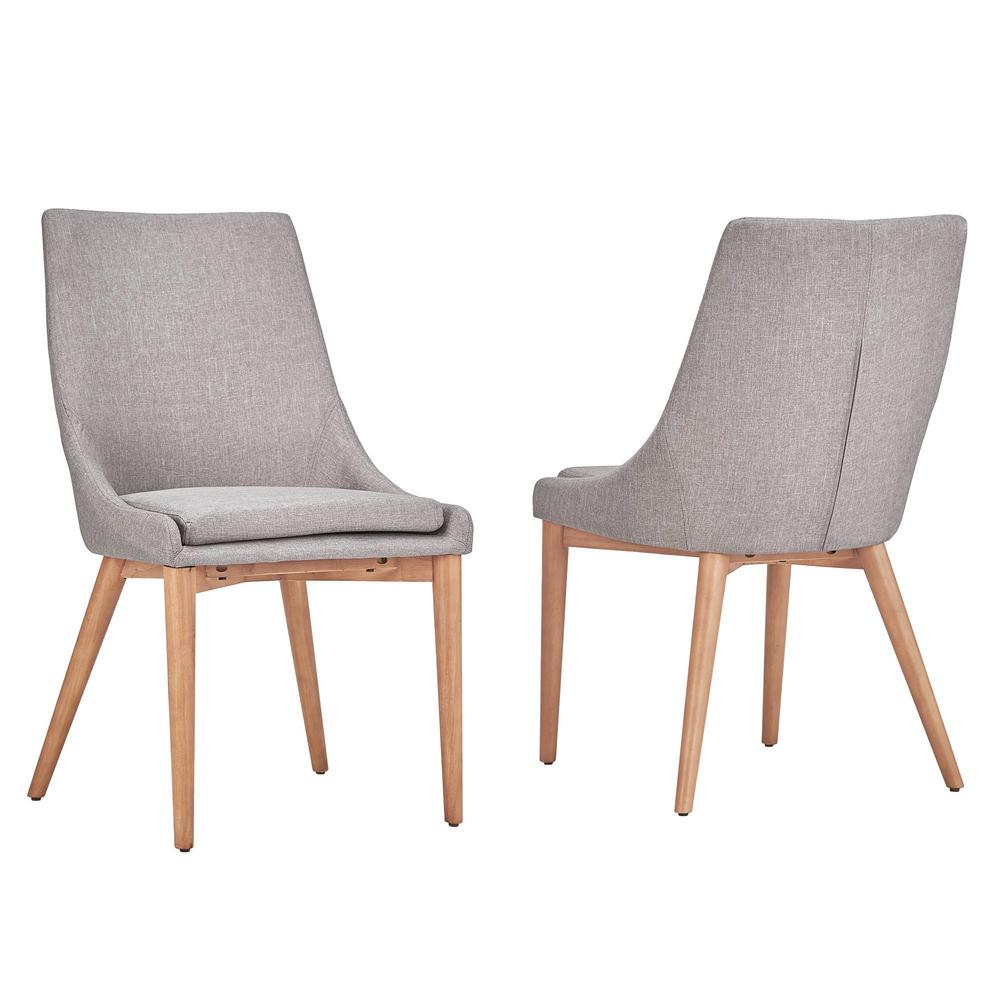 HomeSullivan Nobleton Grey Linen Dining Chair (Set Of 2)