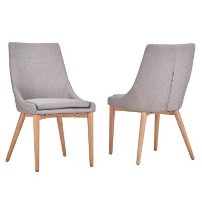 Nobleton Grey Linen Dining Chair (Set of 2)