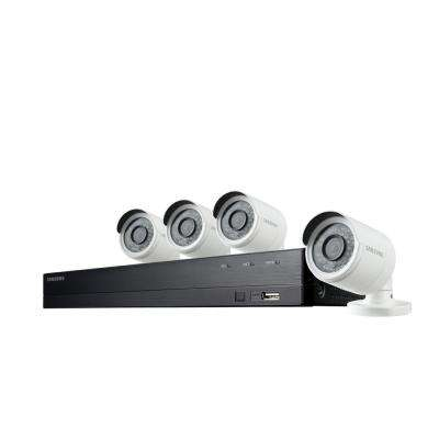 8-Channel Full HD Video Security System with 4x Outdoor Bullet Cameras