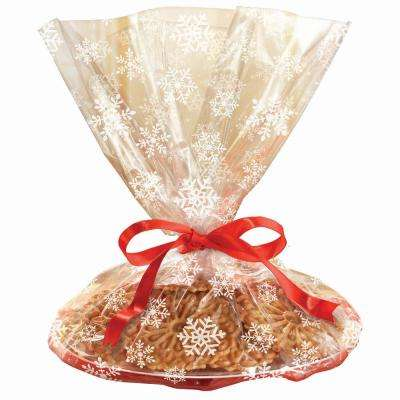 18 in. x 16 in. Snowflake Printed Cookie Tray Bags (6-Count, 4-Pack)