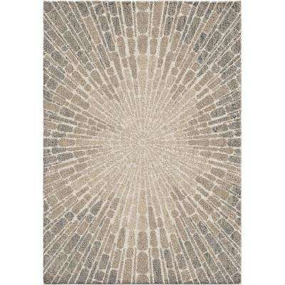 Starburst Beige 7 ft. 10 in. x 10 ft. 10 in. Area Rug