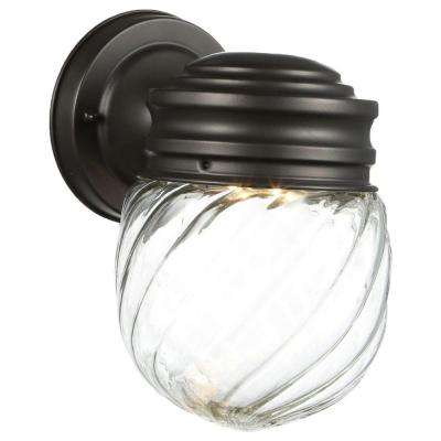 Woodmere Oil-Rubbed Bronze Outdoor LED Powered Wall Lantern