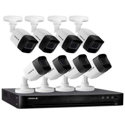 8-Channel Ultra HD 4K (8MP) 2TB DVR Security Camera System with Remote Viewing and 8 Cameras