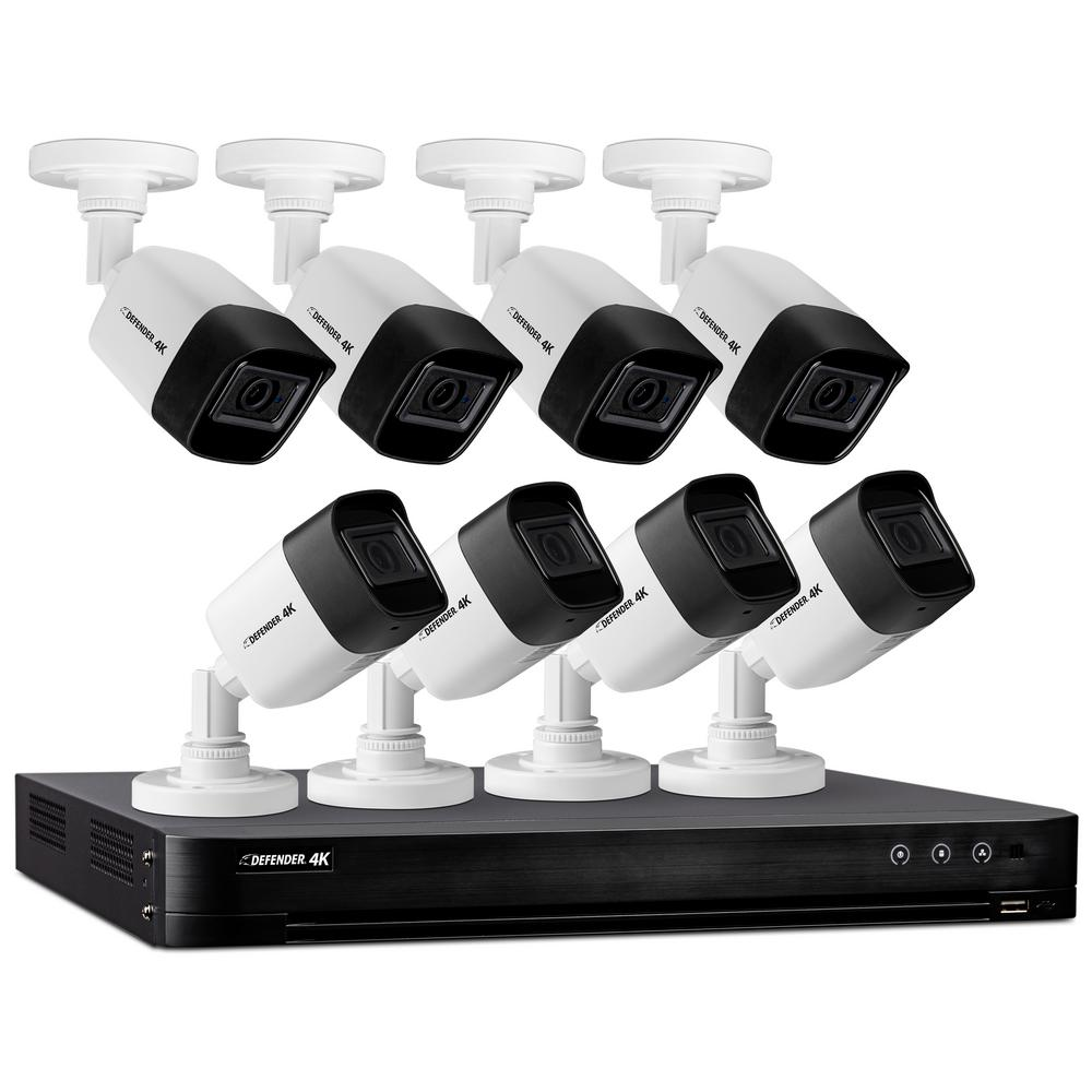 Defender 8-Channel Ultra HD 4K (8MP) 2TB DVR Security Camera System with Remote Viewing and 8 Cameras