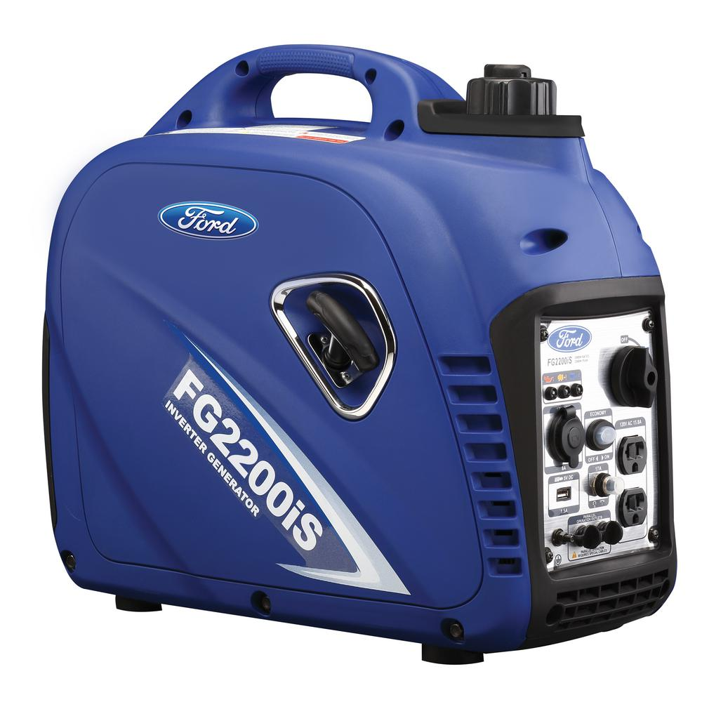2,200/2,000-Watt Gasoline Powered Recoil Start Portable Inverter Generator with