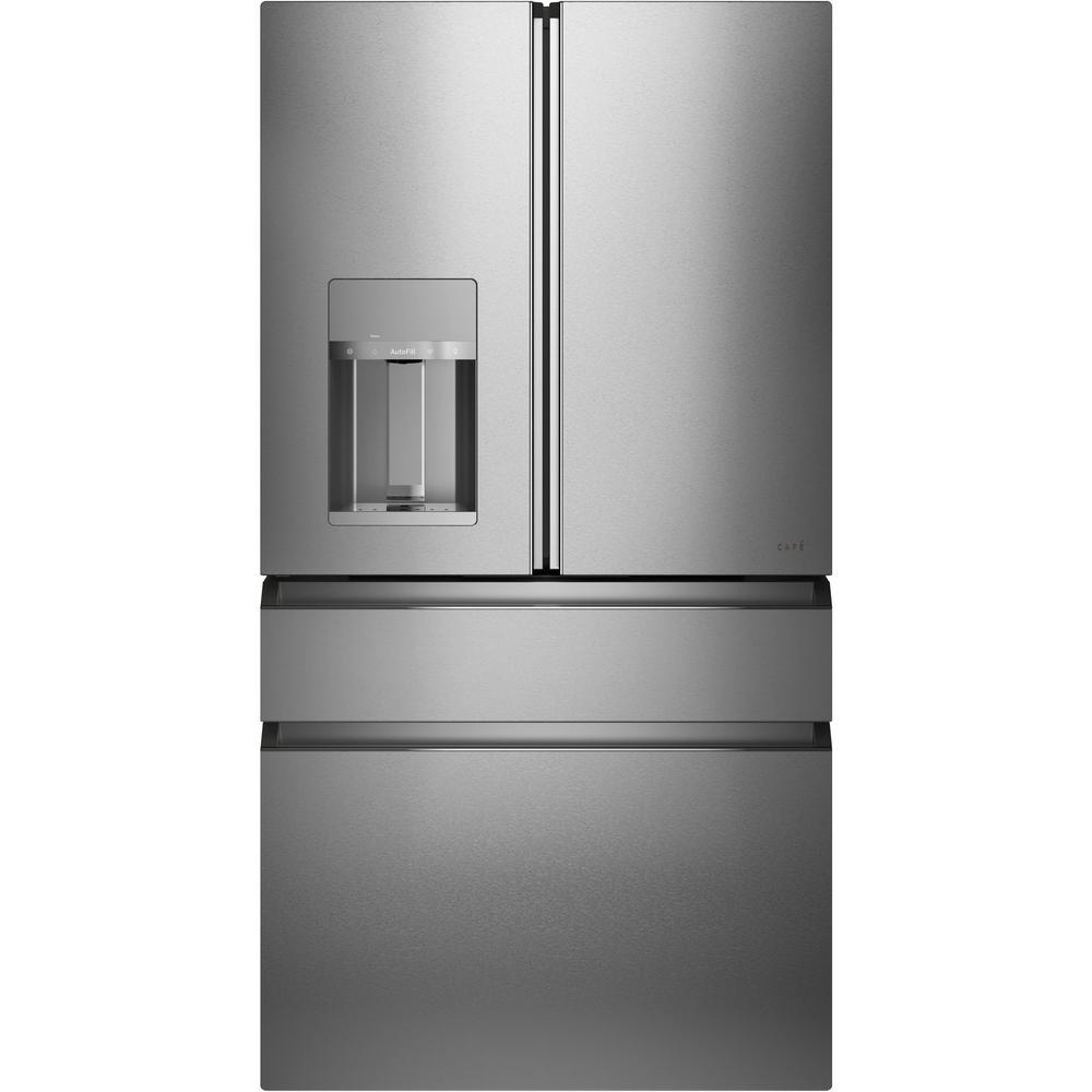 27.8 cu. ft. Smart 4-Door French Door Refrigerator in Platinum Glass, ENERGY STAR