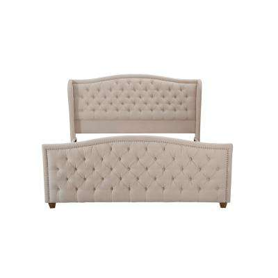 Marcella Sky Neutral King Upholstered Bed