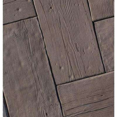 Barn Plank 23.375 in. x 9.75 in. x 2 in. Espresso Concrete Paver (20 Pieces/31.8 Sq.ft./Pallet)