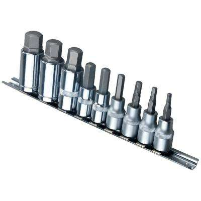 3/8 in. and 1/2 in. Drive SAE Hex Socket Set (9-Piece)