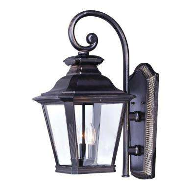 Knoxville 9 in. W 3-Light Bronze Outdoor Wall Mount Sconce