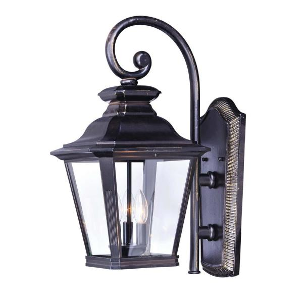 Knoxville 9 in. W 3-Light Bronze Outdoor Wall Lantern Sconce