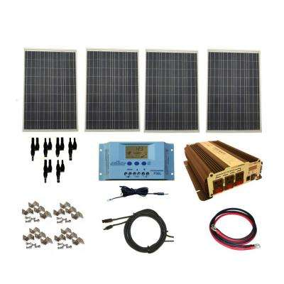 400-Watt Off-Grid Polycrystalline Solar Panel Kit with 1500-Watt VertaMax Power Inverter