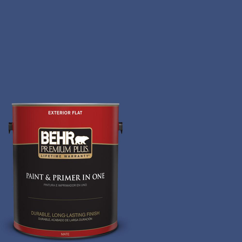 BEHR Premium Plus 1-gal. #S-H-600 Sailor Flat Exterior Paint