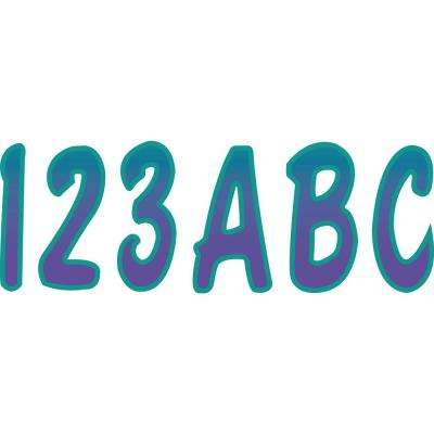 Series 200 Registration Kit, Cursive Font With Top to Bottom Color Gradations, Purple/Teal