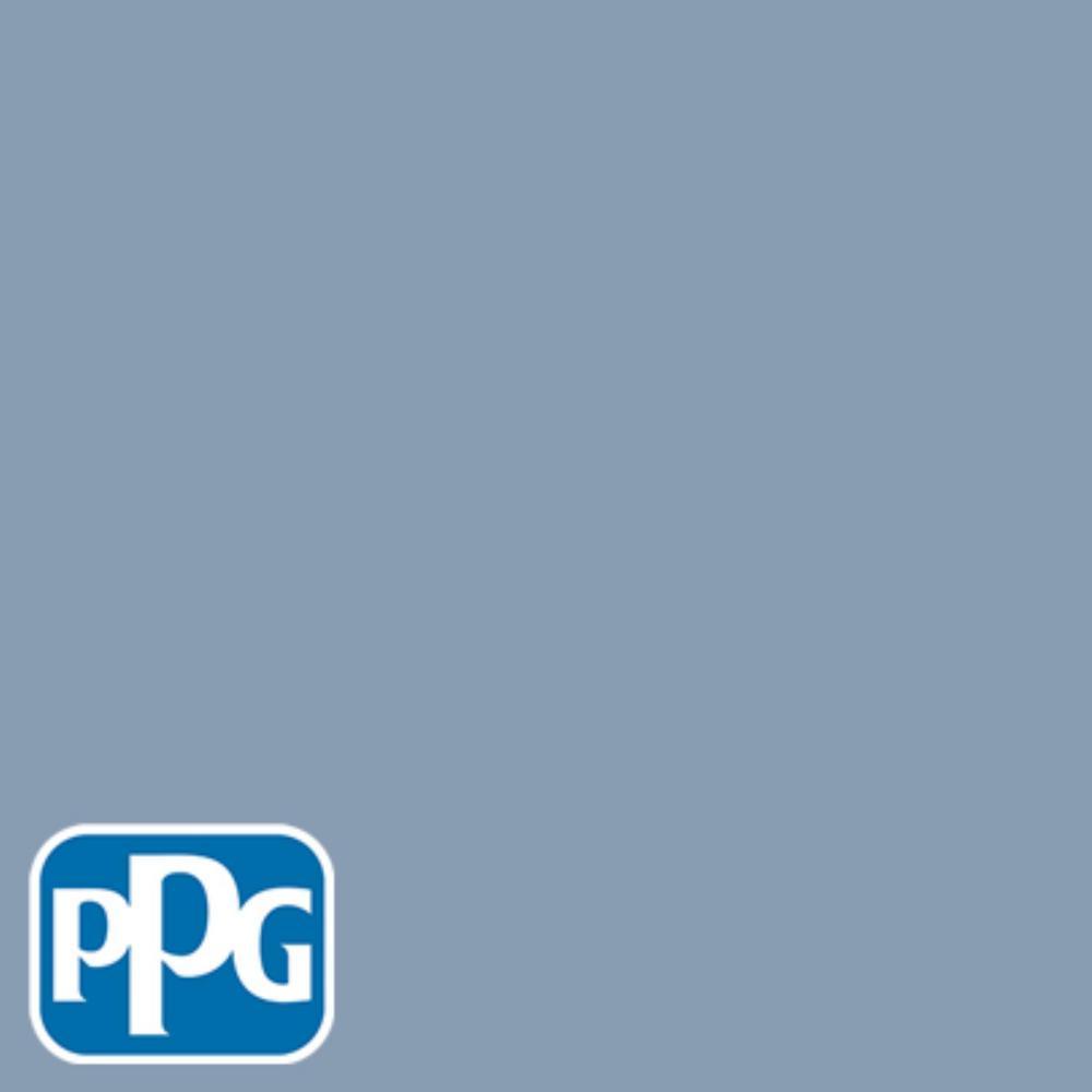 5 gal. #HDPPGV25U Contemplative Blue Flat Exterior One-Coat Paint with Primer