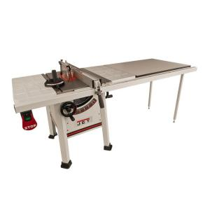 JET 1.75 HP 10 inch Proshop Table Saw with 52 inch Fence, Steel Wings and Riving Knife, 115/230-Volt, JPS-10TS by JET