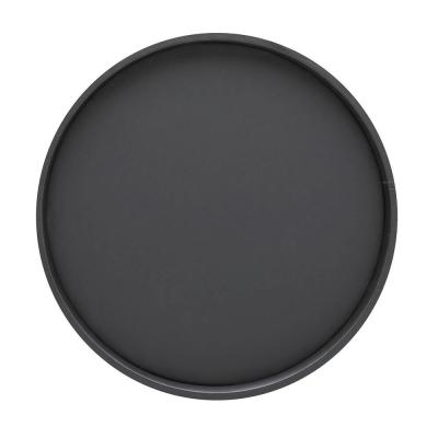 Bartenders Choice Fun Colors 14 in. Black Vinyl Round Serving Tray (Case of 12)