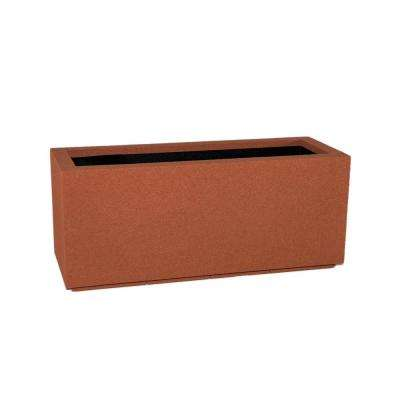 Milan Tall 46 in. x 19 in. Red Clay Trough Planter