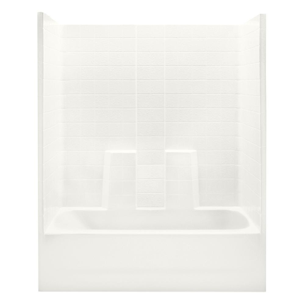 Everyday 60 in. x 30 in. x 72 in. 1-Piece Bath