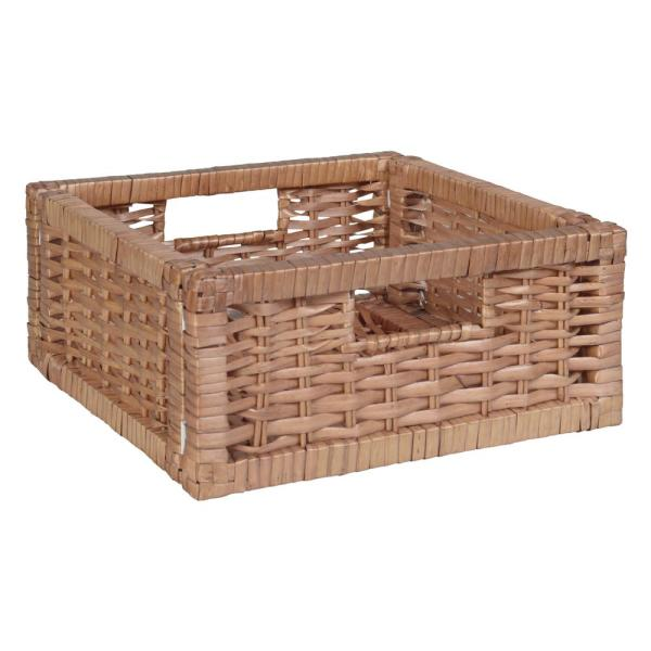 6 in. H x 12 in. W x 12 in. D Natural Wood 1-Cube Storage Organizer
