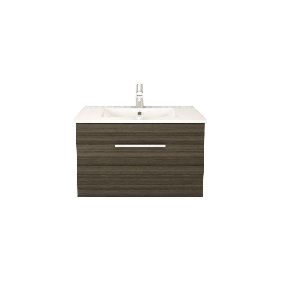 Cutler Kitchen & Bath Textures Collection 30 in. W Vanity in Spring Blossom with Acrylic Sink in White