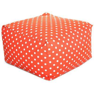 Orange Ikat Dot Indoor/Outdoor Ottoman Cushion
