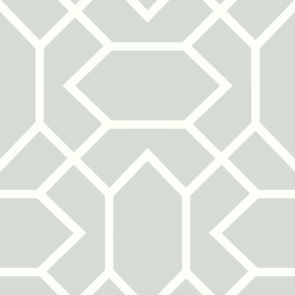 28.18 sq. ft. Light Gray Modern Geometric Peel and Stick Wallpaper