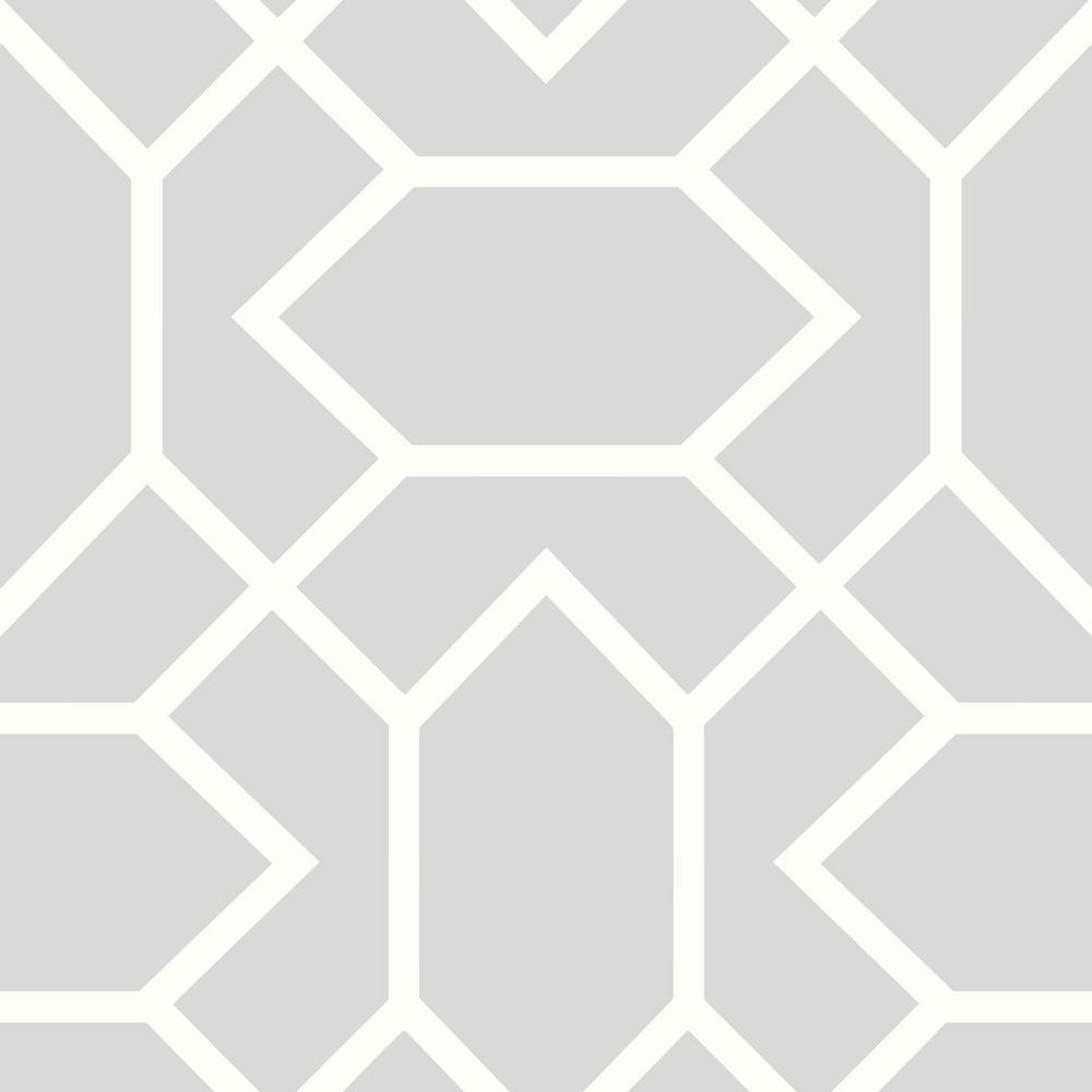 28.18 sq. ft. Light Gray Modern Geometric Peel and Stick Wallpaper