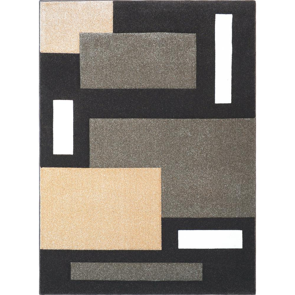 Home Dynamix Sumatra Dark Brown 7 ft. 10 in. x 10 ft. 2 in. Area Rug