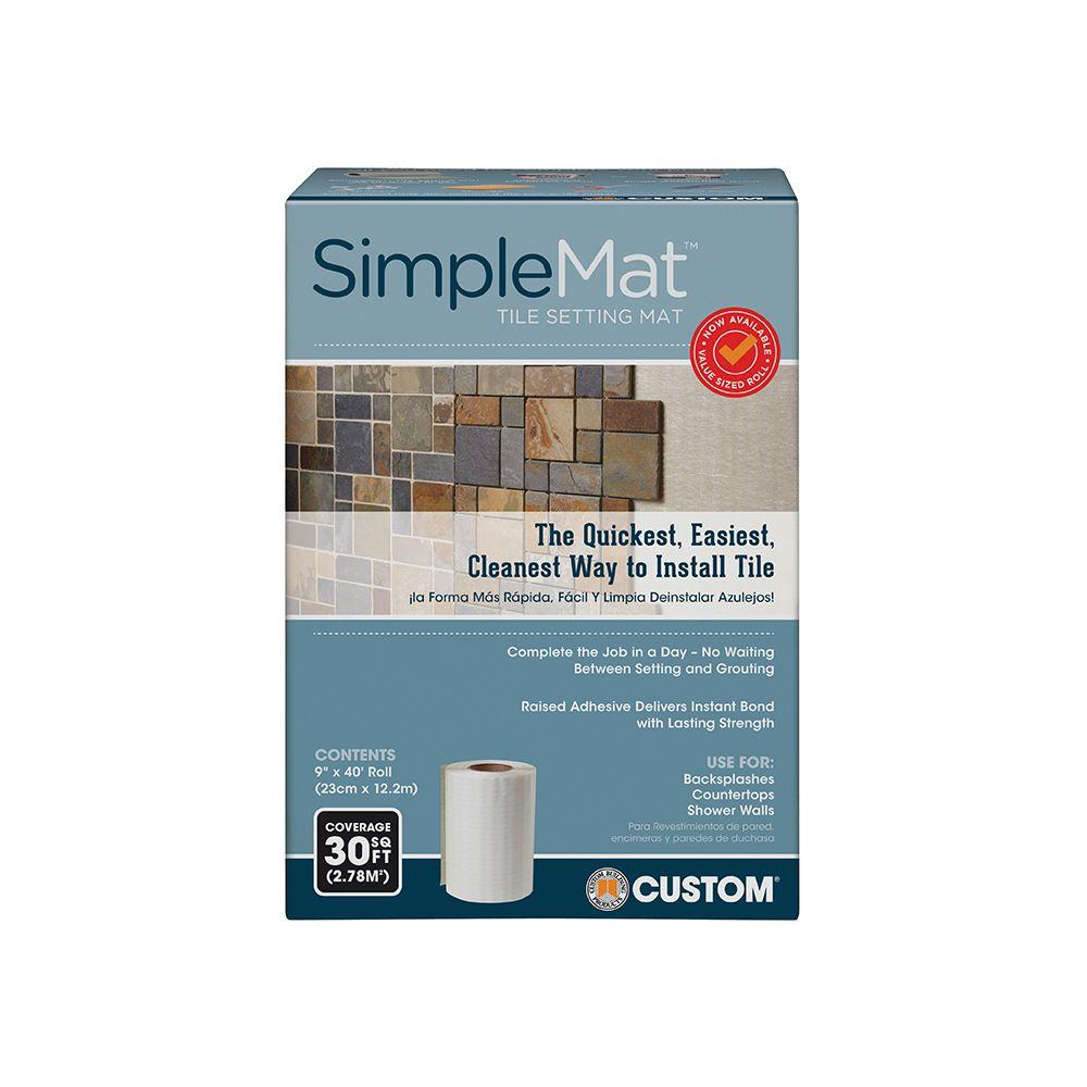 Custom Building Products SimpleMat 30 sq. ft. Roll of Tile Setting ...
