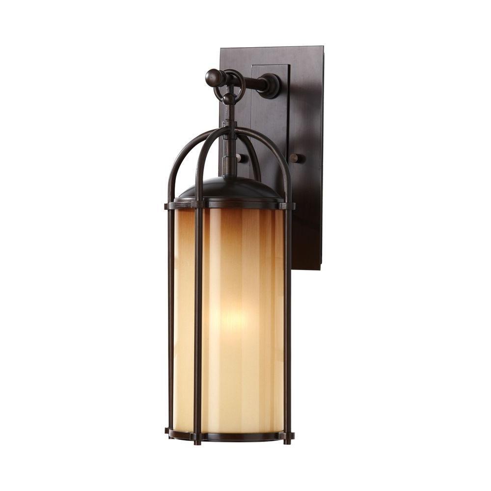 Dakota 1-Light Heritage Bronze Wall Lantern