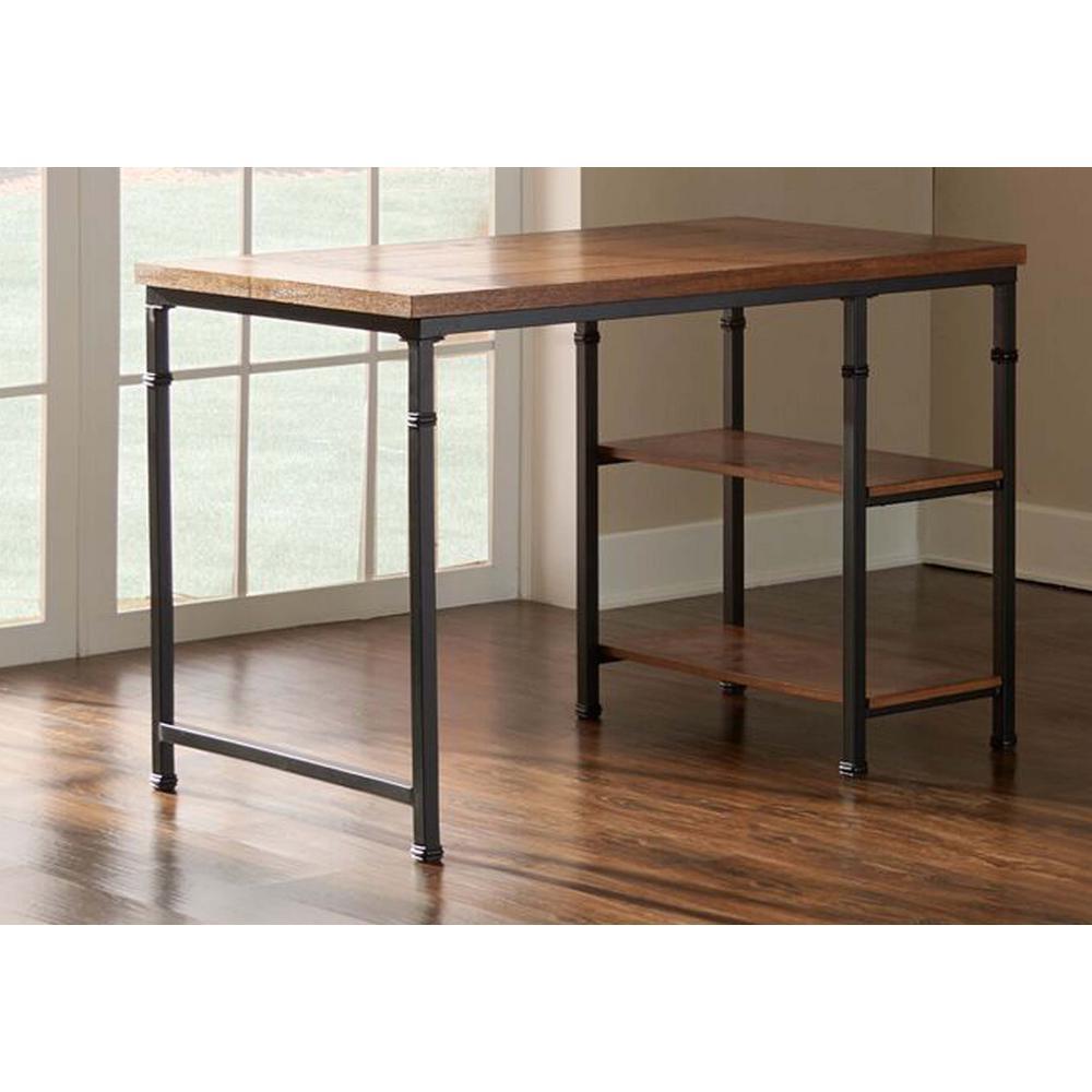 Austin Ash Veneer Desk with Shelves