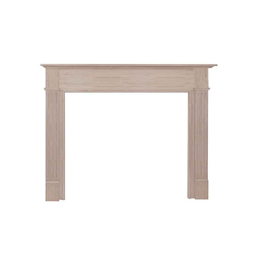 the williamsburg 48 in x 42 in unfinished fireplace mantel 110