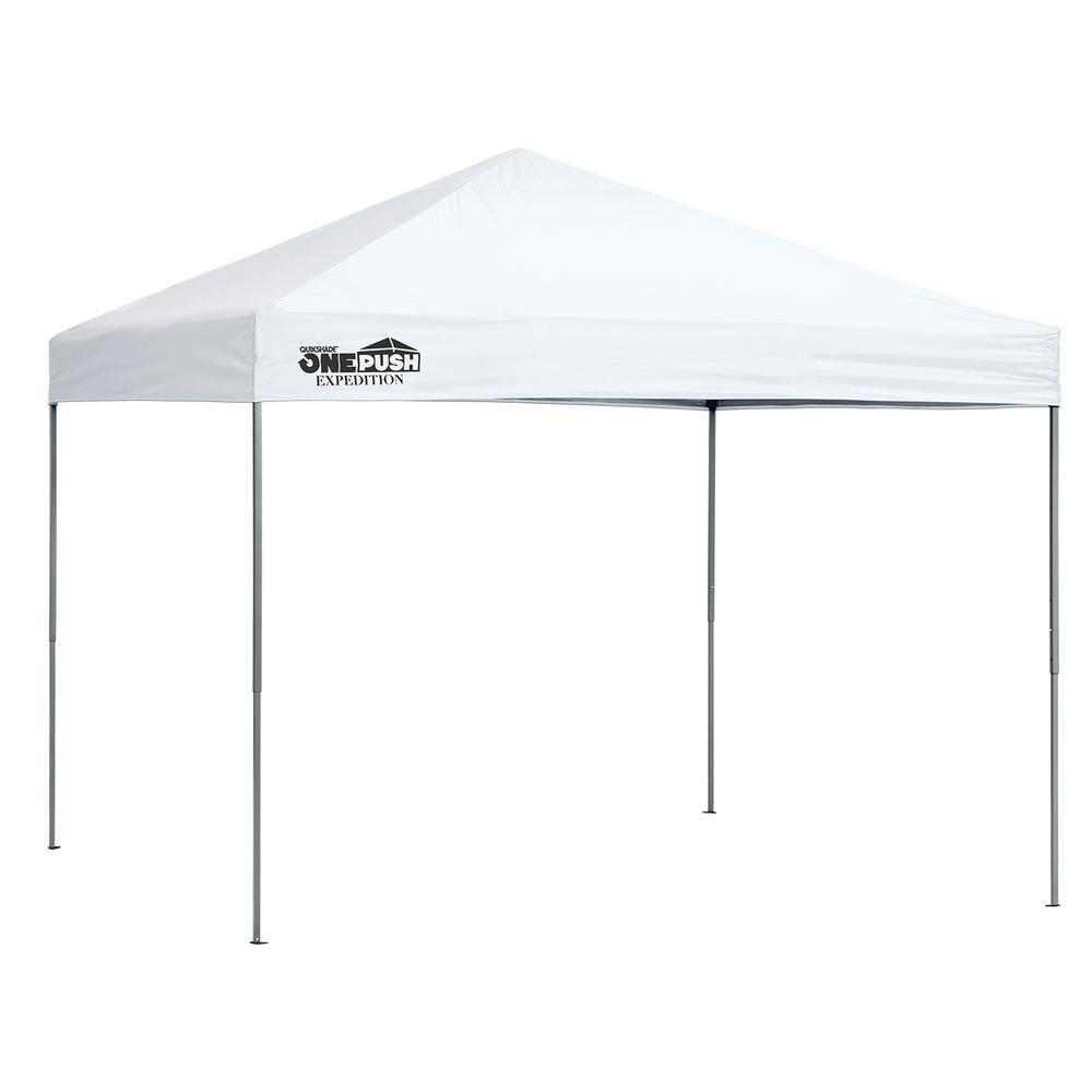 Quik Shade Expedition EX100 1-Push 10 ft. x 10 ft. White