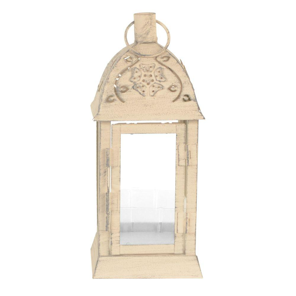 Sorrento 4 in. x 9 in. Glass and Metal Lantern Terrarium