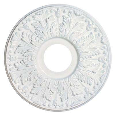 15-1/2 in. Victorian White Finish Ceiling Medallion