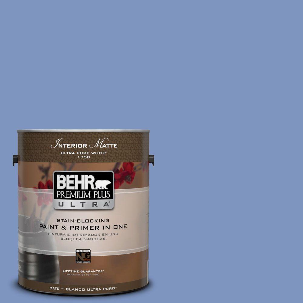1 gal. #M540-5 Blue Satin Matte Interior Paint