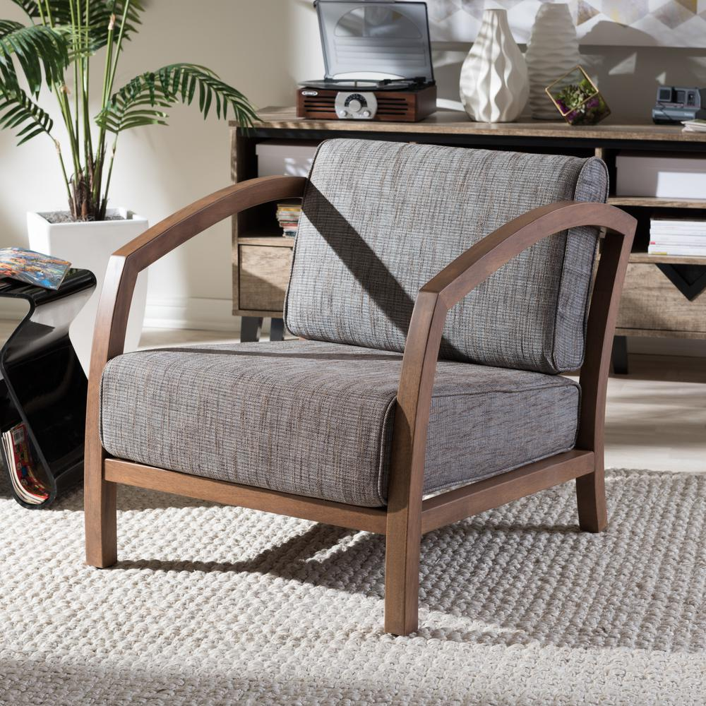 velda gravel multicolor fabric arm chair